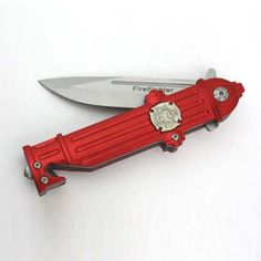 Pocket Knife for Firefighter - Shaped like a fire hydrant, this is a great stocking stuffer gift idea for a fireman gift ideas for him Firefighter Home Decor, Firefighter Paramedic, Firefighter Love, Volunteer Firefighter, Firefighters Wife, Firefighter Jacket, Firefighter Wedding, Firefighter Quotes, Fire Equipment