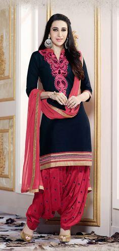 Karishma - Designer Collections by Clothes Cottage With Embroidery Work Patiala Dress, Ladies Salwar Kameez, Patiala Salwar Suits, Punjabi Suits, Shalwar Kameez, Kurti, Punjabi Fashion, Indian Fashion, Indian Dresses