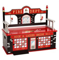 Firefighter Bench for a baby boy room :)