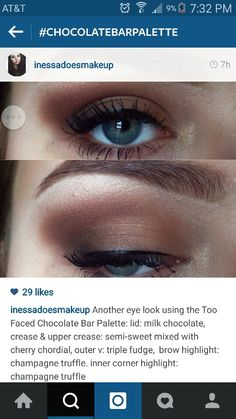 Found this fabulous look on instagram made with the fabulous Chocolate Bar Palette. I WANT THIS PALETTE SO BADLY!