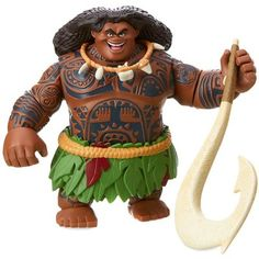 Let the demigod bring South Pacific playtime adventures to life with this Maui action figure. The detailed doll features his famous necklace and trusty magical fish hook. Moana Disney, Disney Store Uk, Disney Home, Disney Infinity, Baymax, Big Hero 6, Ralph Disney, Pixar, Maui Moana