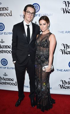 Ashley Tisdale & Christopher French from 2016 Golden Globes: Party Pics  The High School Musical alum and her husband attend the Art of Elysium 2016 HEAVEN Gala.