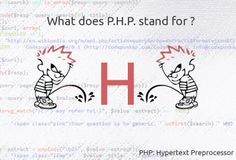 Originally created by Rasmus Lerdorf, PHP originally stood for Personal Home Page. Now it means PHP: Hypertext Preprocessor - a recursive backronym. Php, Web Development, Web Design, Forget, Jokes, Coding, Humor, Learning, Funny