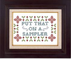 Quietly subversive (cross stitch pattern  by pickleladyfarm $5.00)
