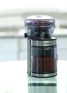 Convenience Breakthrough: The New Capresso Ceramic Burr Grinder. For those who crave the rich coffee taste that can only come from brewing with freshly ground beans, Capresso presents its first ceramic coffee grinder.