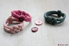 Celtic Bracelet, Spool Knitting, Loom Craft, Crochet Bracelet, Couture, Diy For Kids, Jewelry Crafts, Knit Crochet, Fashion Jewelry
