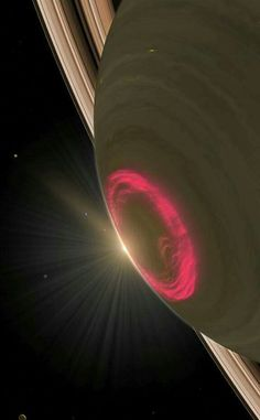 Auroras at Saturn captured by Hubble Space Telescope Cosmos, Hubble Space Telescope, Space And Astronomy, Planets And Moons, Across The Universe, Our Solar System, To Infinity And Beyond, Deep Space, Space Travel