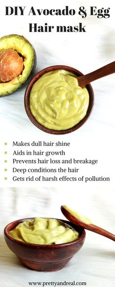 Dry, damaged hair? Need some care & mosturisation? My Homemade Hair Mask for Dry Hair using Avocado & egg will make your hair soft, shiny & healthy! #hairmask #diy #diyhairtreatments #damagedhair #hairfall
