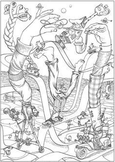 Creativa refugio Bizarro tierra Coloring Book: Bizarro por el dibujante Dan Piraro