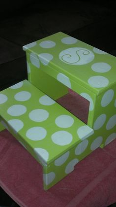 Childrens Step Stool polka dot by wouldknots on Etsy & These step stools and all my functional and decorative items can ... islam-shia.org