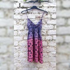 Dip Dye Dress Pink & Purple Hippie Boho to fit UK Size 6 or US size 2 Boho…
