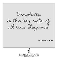 We are all about a simple accessory done very well. Very Well, Coco Chanel, Simple