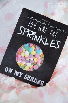 Sprinkles on my Sundae - Chalk Art Gift Idea