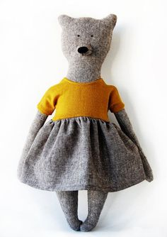 Vanessa The Bear. Primitive Bear. Child friendly by PhilomenaKloss