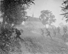 Russian troops break and run during the offensive in Galicia in the northeastern region of the Austro-Hungarian Empire in July 1917.