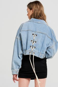 414998719e Aurora Back Strappy Denim Jacket Discover the latest fashion trends online  at storets.com