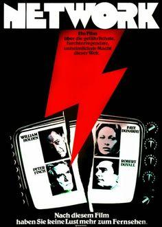 NETWORK (Dir. Sidney Lumet, 1976) - German poster