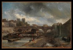 Johan Barthold Jongkind (Dutch, 1819–1891). The Pont Neuf, 1849–50. The Metropolitan Museum of Art, New York. Gift of Mr. and Mrs. Walter Mendelsohn, 1980 (1980.203.3)