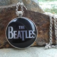THE BEATLES glass pendant necklace, glass jewelry, handmade jewelry, The Beatles pendants by SequoiaVibes on Etsy