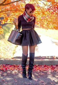 Scarf#bag#girl#style