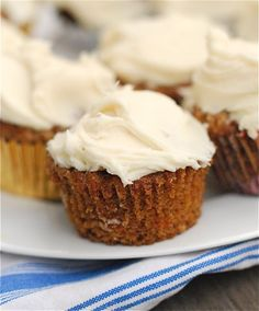 Simple Carrot Cake Cupcakes with Cream Cheese Frosting