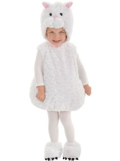 Baby White Cat Costume - Party City