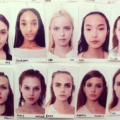 model mug shots Model Polaroids, Models Backstage, Catwalk Models, Model Face, Fresh Face, Girls Makeup, Cara Delevingne, Cute Faces, Mug Shots