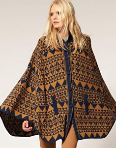Just Female Tribal Pattern Knitted Cardigan