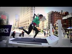 #ASICS let fans step into the shoes of elite marathoner, Ryan Hall. We built a treadmill that only runs at his speed. We drove it around New York to let people jump on and see how long they could keep up! https://www.youtube.com/watch?v=v0jYFDv8kSc&feature=c4-overview-vl&list=PLUgtK5CbYT6OIz51bEcKTWajaFiOCcTqM