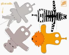 Animales: Free templates for Finger Animals