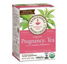 Organic Pregnancy® Tea: Supports Healthy Pregnancy   • Tones Uterine Muscles • Provide Nourishment and Prepares the Womb for Childbirth • 16 Wrapped Tea Bags • Naturally Caffeine Free