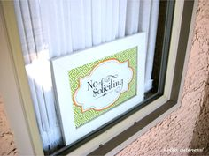 {Free Printable} No Soliciting Sign from Hello, Cuteness!