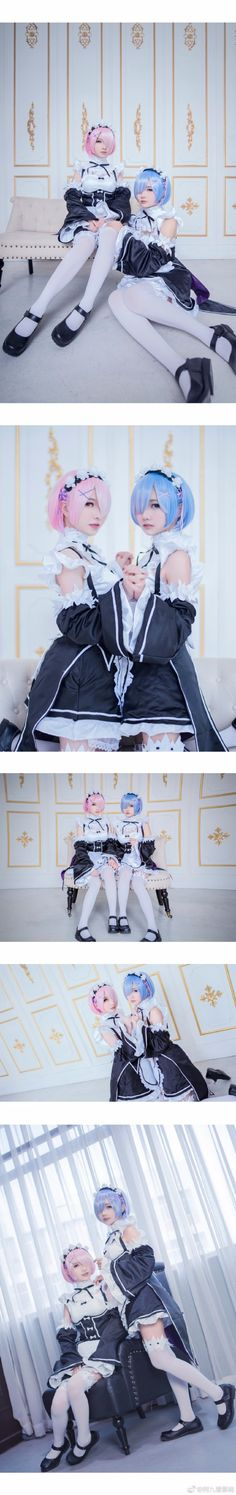 Cosplay Duo Shares a Scary Accurate Shoot as Rem and Ram Ram And Rem, Cosplay Girls, Anime Cosplay, Re Zero Rem, Maid Uniform, Steampunk Cosplay, Kara, Geek Stuff, Beautiful Women