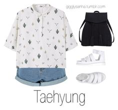 """Roaming Houston // Taehyung"" by suga-infires ❤ liked on Polyvore featuring Boohoo, MANGO, Dr. Martens and Violeta by Mango"