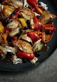 Italian Roast Chicken With Peppers and Olives