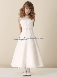Embroidery Satin First Communion Dress. This kind of dress ...