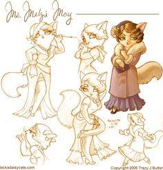 Mitzy May from Lackadaisy Cats - Tracey J. Butler