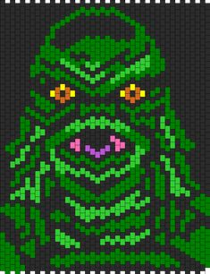 Creature From The Black Lagoon Bead Pattern