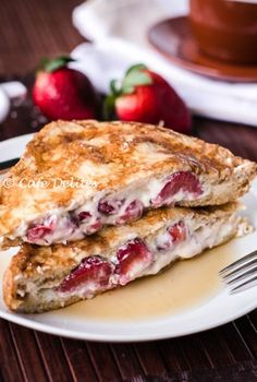 Strawberries and Cream French Toast! cafedelites.com