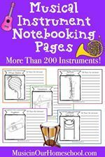 Do you want your kids to learn about music from around the world? Start with this amazing Musical Instrument Notebooking Pages set that contains 219 different instruments! Now through June 7, 2019, Get the set for 50% off with coupon code INSTRUMENTS. Only $5!