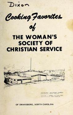 1968ish   Cooking Favorites of the Woman's Society of Christian Service, Swansboro, North Carolina