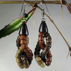 Uroboros Wooden Earrings Uroboros Wooden Earrings by designer brand LoeweStamm.  Loewestamm Company manufactures stylish Wooden Earrings handcrafted from natural wood. Handcrafted in the Ukraine.  New without tags. Jewelry Earrings