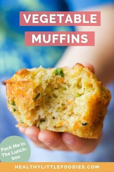 These healthy vegetable savoury muffins for kids are made with whole wheat flour, cheddar cheese, and four different vegetables you can adapt to your family's taste. Easy to bake and make ahead friendly, these vegetarian muffins are perfect for breakfast, Lunch Snacks, No Bake Snacks, Clean Eating Snacks, Lunch Box, Baking Snacks, Kids Baking, Healthy Savoury Muffins, Vegetarian Muffins, Savoury Breakfast Muffins