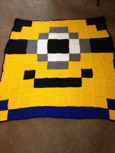 Minion pixel crochet blanket by Carrie Harriman-Graham