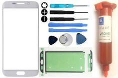 Front Outer Screen Glass Replacement Samsung Galaxy S6 Edge Loca Glue Kit White…