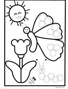 Butterfly dot art