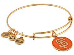 Alex and Ani San Francisco Giants™ Cap Logo Orange Charm Bangle Rafaelian Gold Finish - Zappos.com Free Shipping BOTH Ways