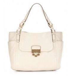 Michael Kors Deneuve Vanilla / Off White Bag - Satchel $287