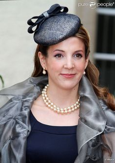 HRH Princess Tessy of Luxembourg wearing pearls Casa Real, Nassau, Royal Fashion, Love Fashion, Fashion Ideas, Mother Of The Bride Hats, Real Princess, Princess Madeleine, Crown Princess Victoria