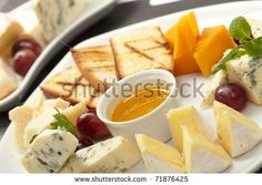 Cheese Plate With Grapes And Honey Stock Photo 71876425 : Shutterstock